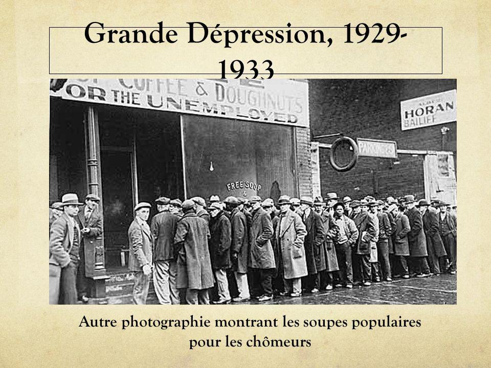 Autre photographie montrant les soupes populaires pour les chômeurs