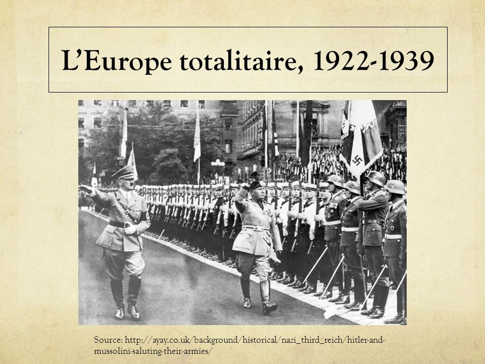 L'Europe totalitaire, 1922-1939