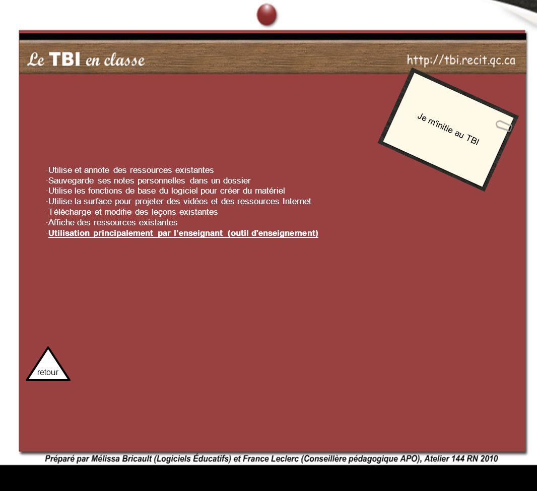 ·Utilise et annote des ressources existantes