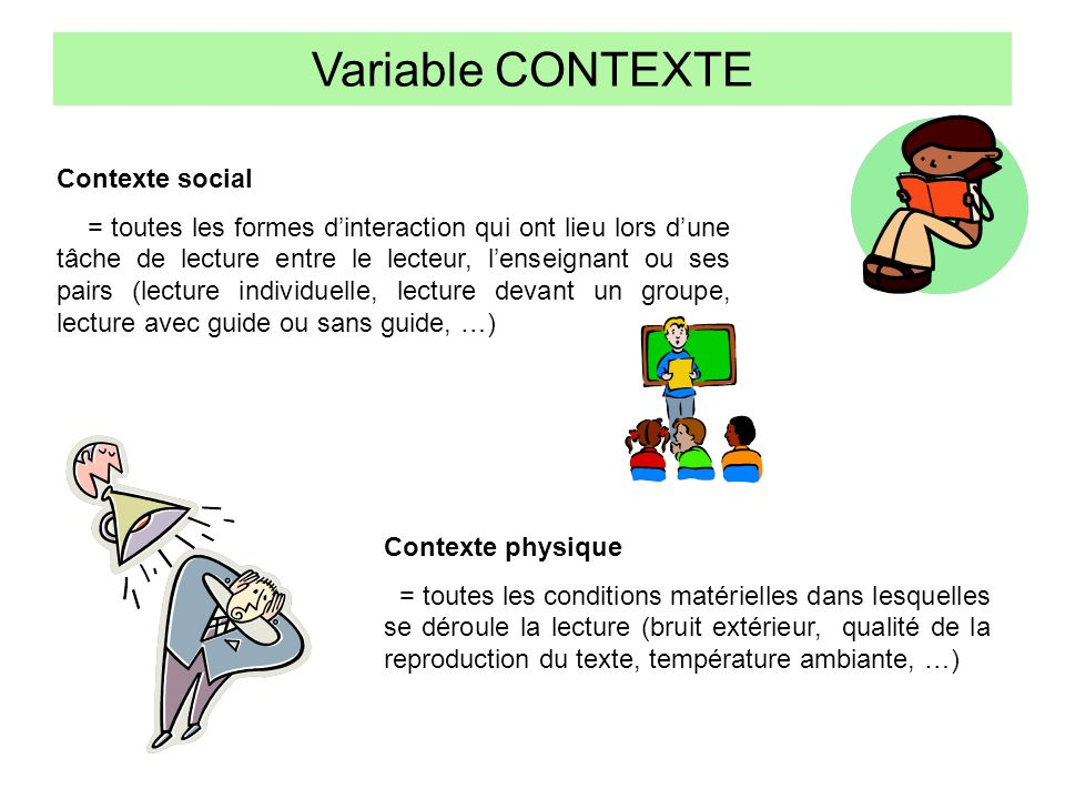 Variable CONTEXTE Contexte social