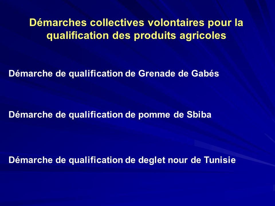 Démarches collectives volontaires pour la qualification des produits agricoles
