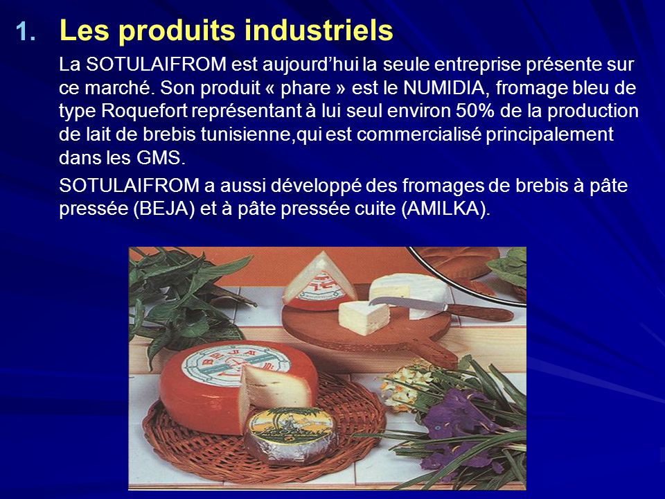 Les produits industriels