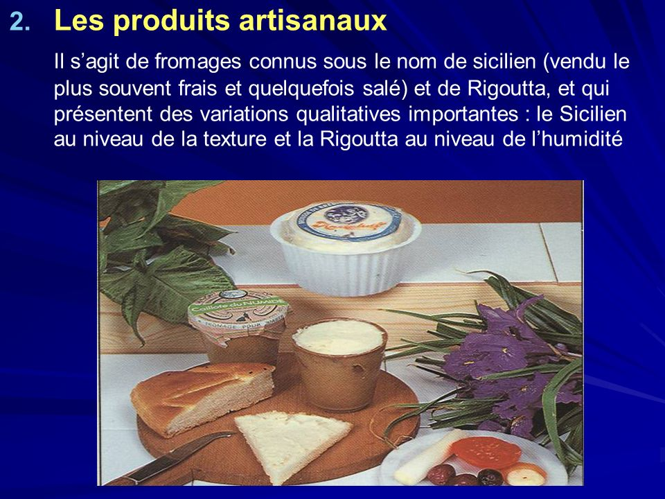 Les produits artisanaux