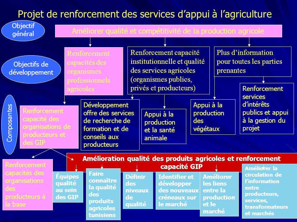 Projet de renforcement des services d'appui à l'agriculture