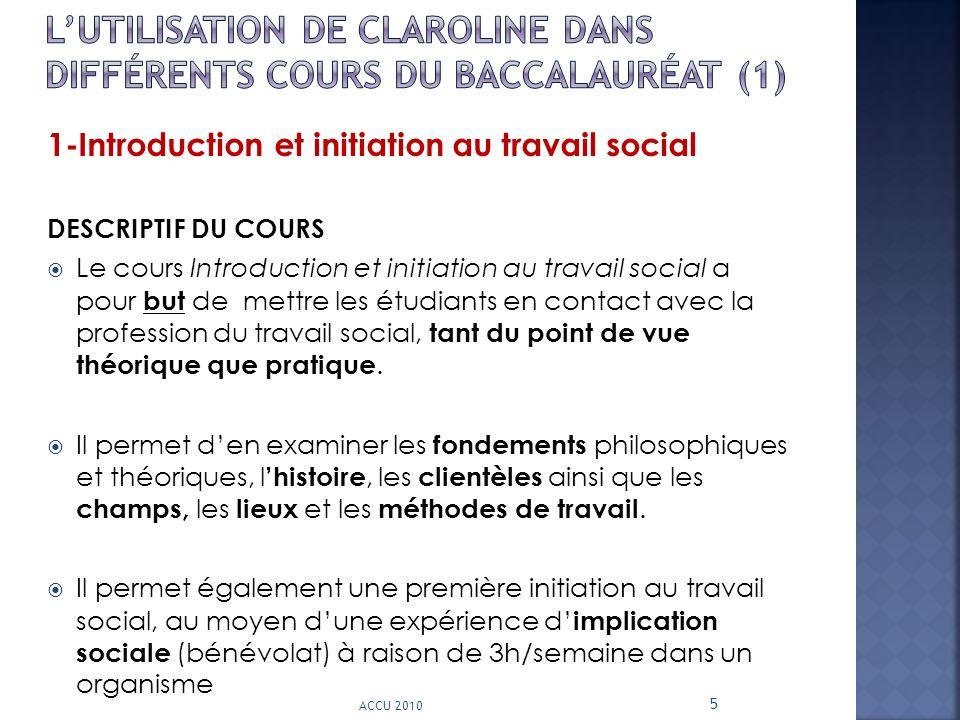 L'utilisation de CLAROLINE dans différents cours du Baccalauréat (1)