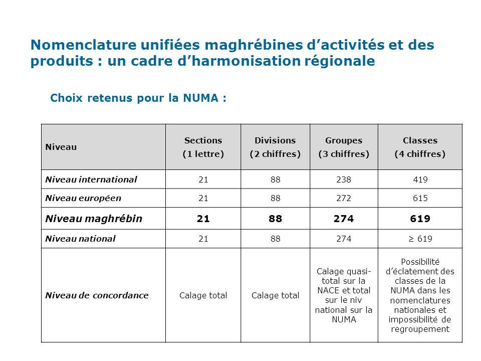 Nomenclature unifiées maghrébines d'activités et des produits : un cadre d'harmonisation régionale