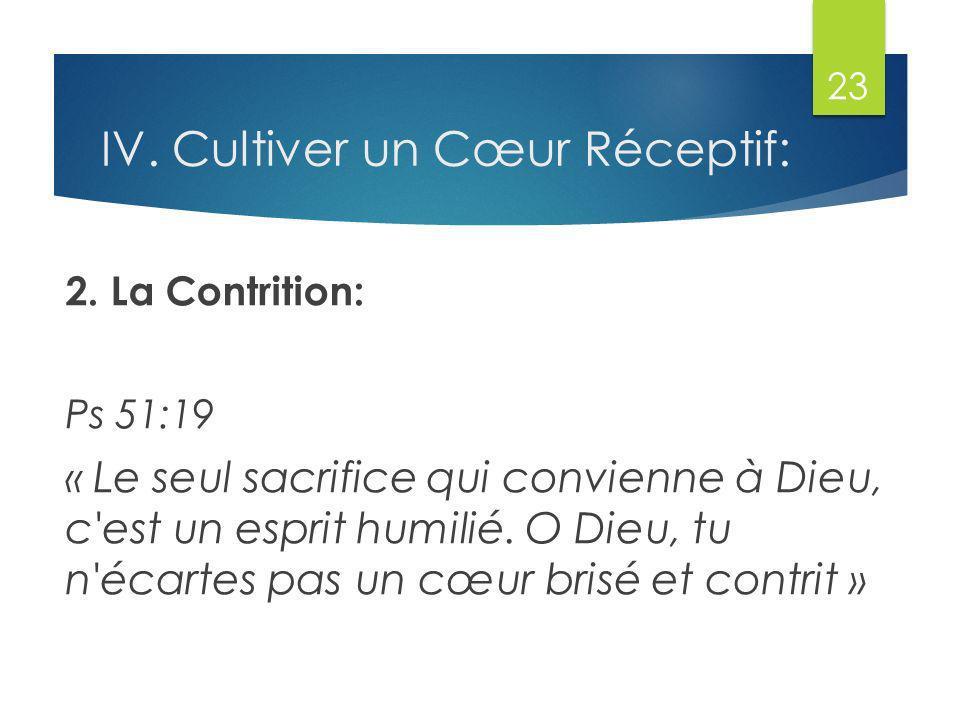 IV. Cultiver un Cœur Réceptif: