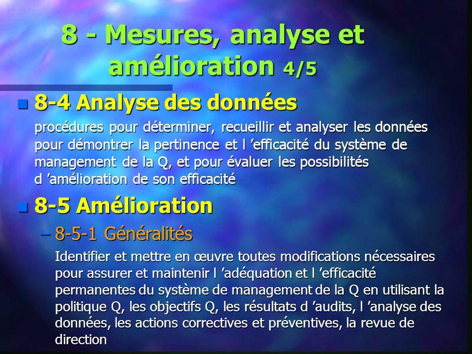 8 - Mesures, analyse et amélioration 4/5