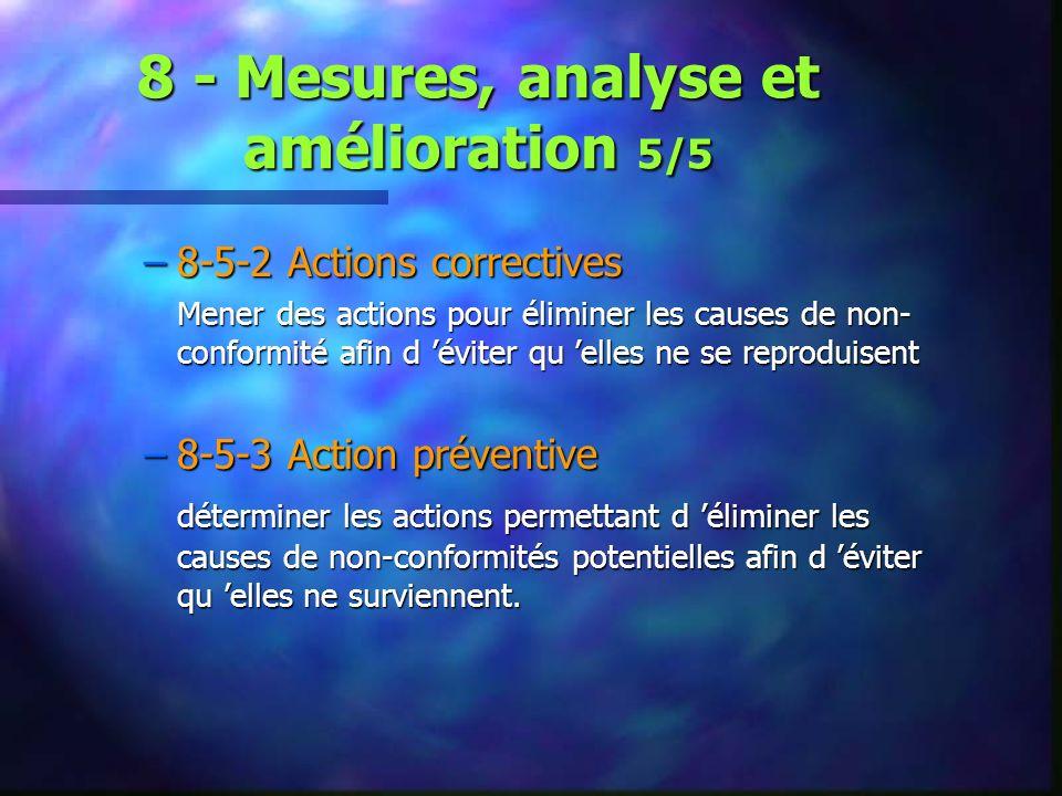 8 - Mesures, analyse et amélioration 5/5
