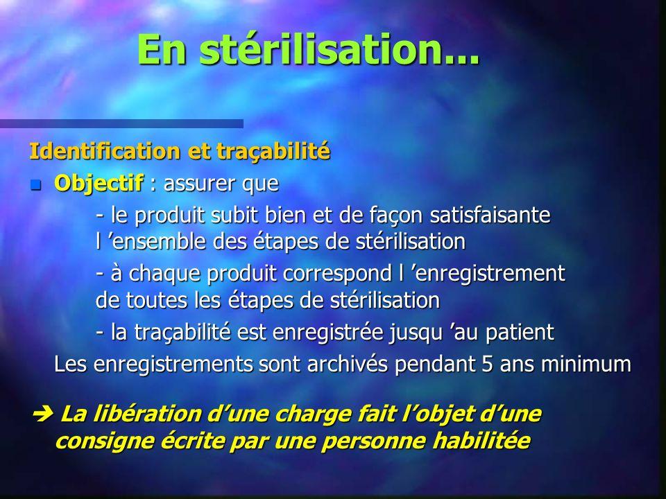 En stérilisation... Identification et traçabilité