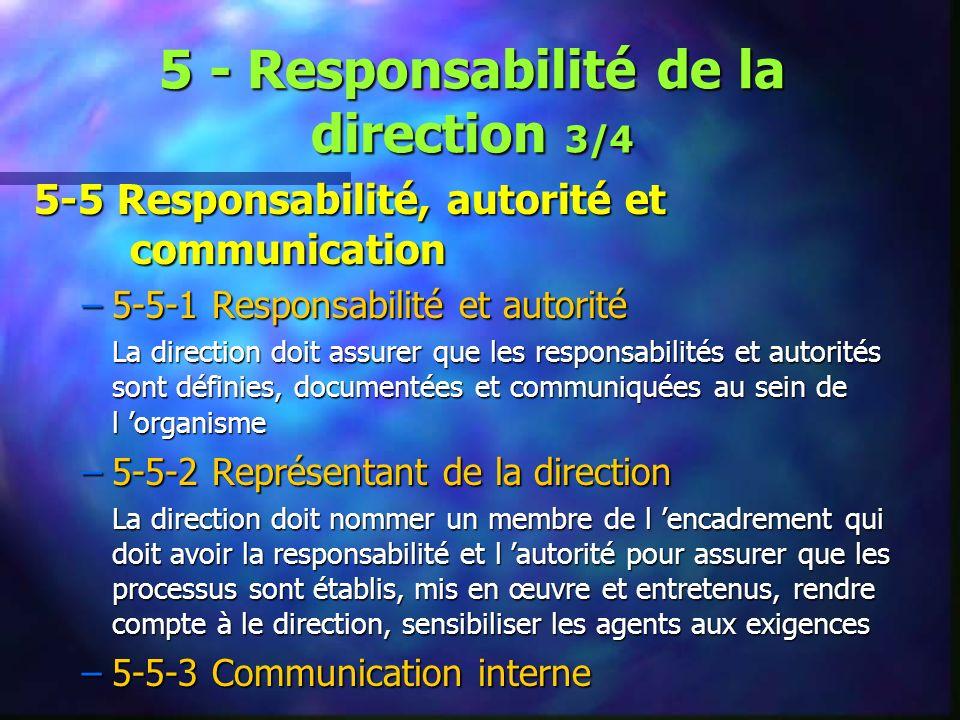 5 - Responsabilité de la direction 3/4