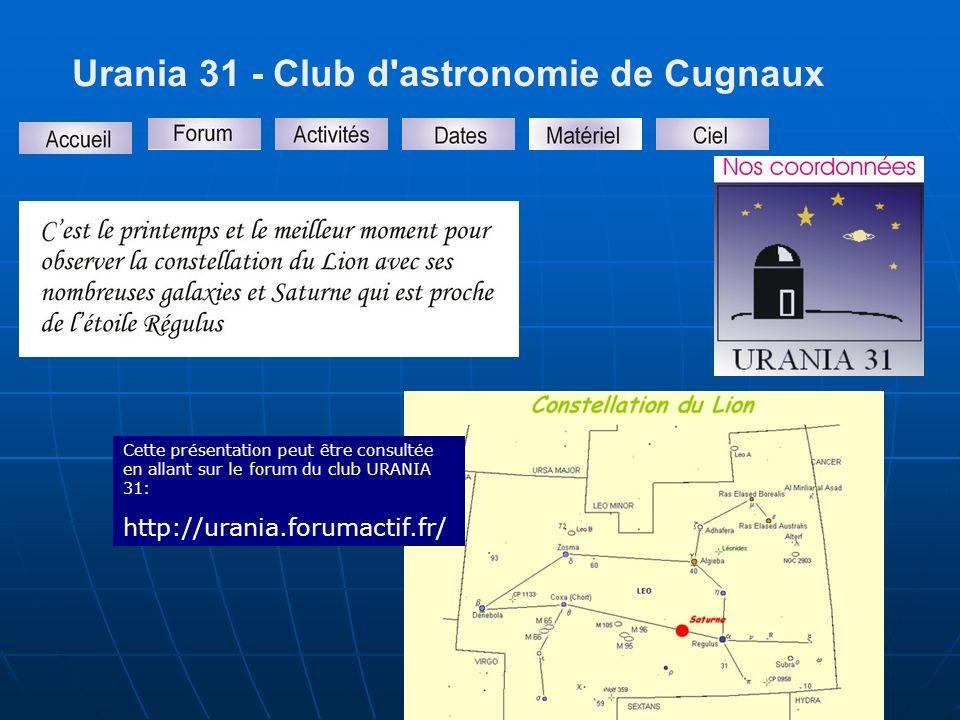 Urania 31 - Club d astronomie de Cugnaux