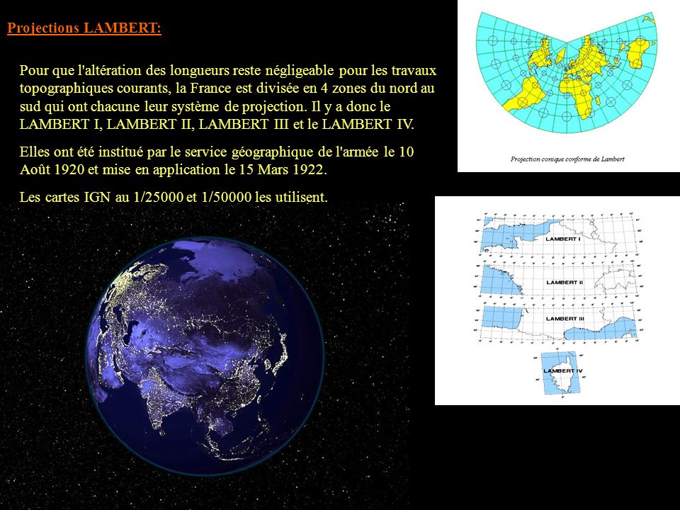 Projections LAMBERT: