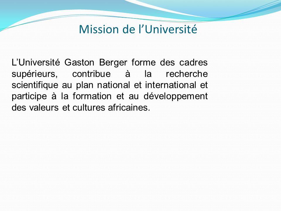 Mission de l'Université