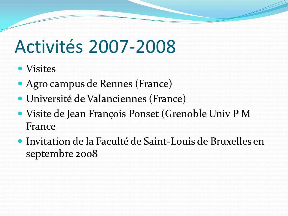 Activités 2007-2008 Visites Agro campus de Rennes (France)