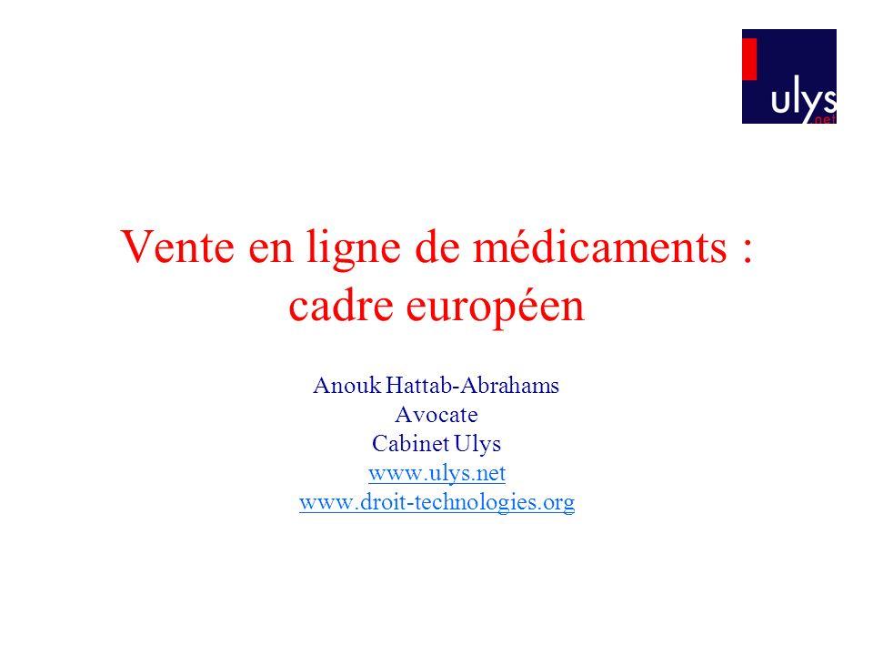 Vente en ligne de médicaments : cadre européen