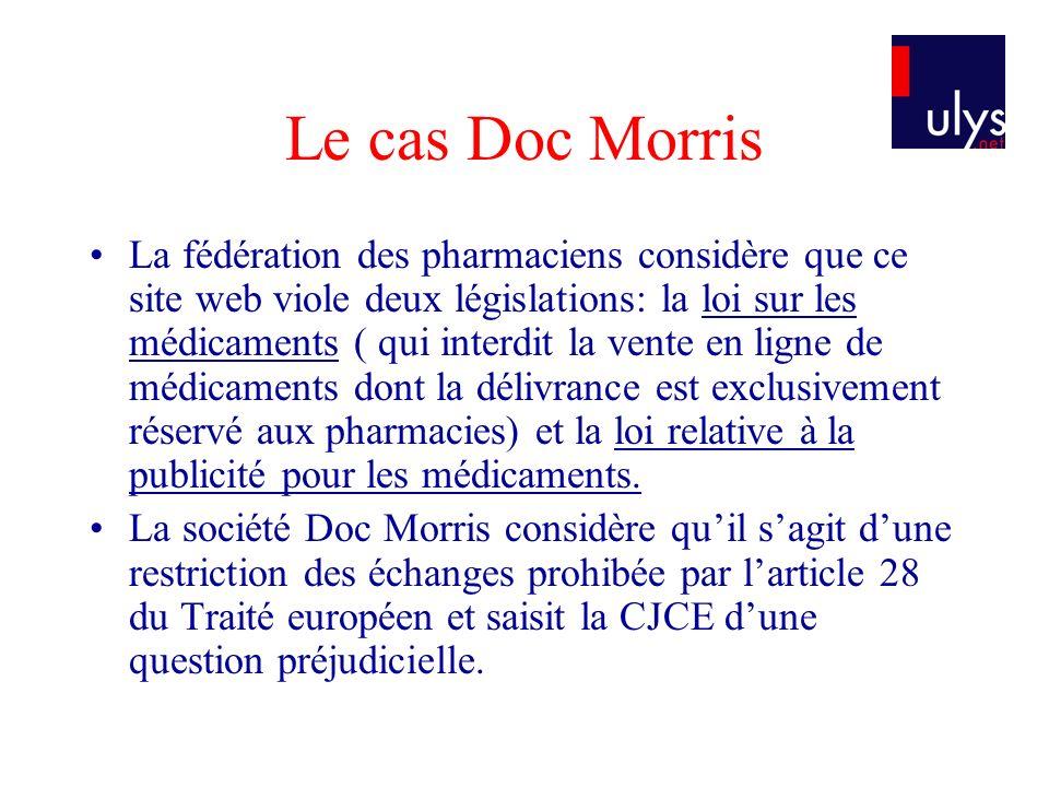 Le cas Doc Morris