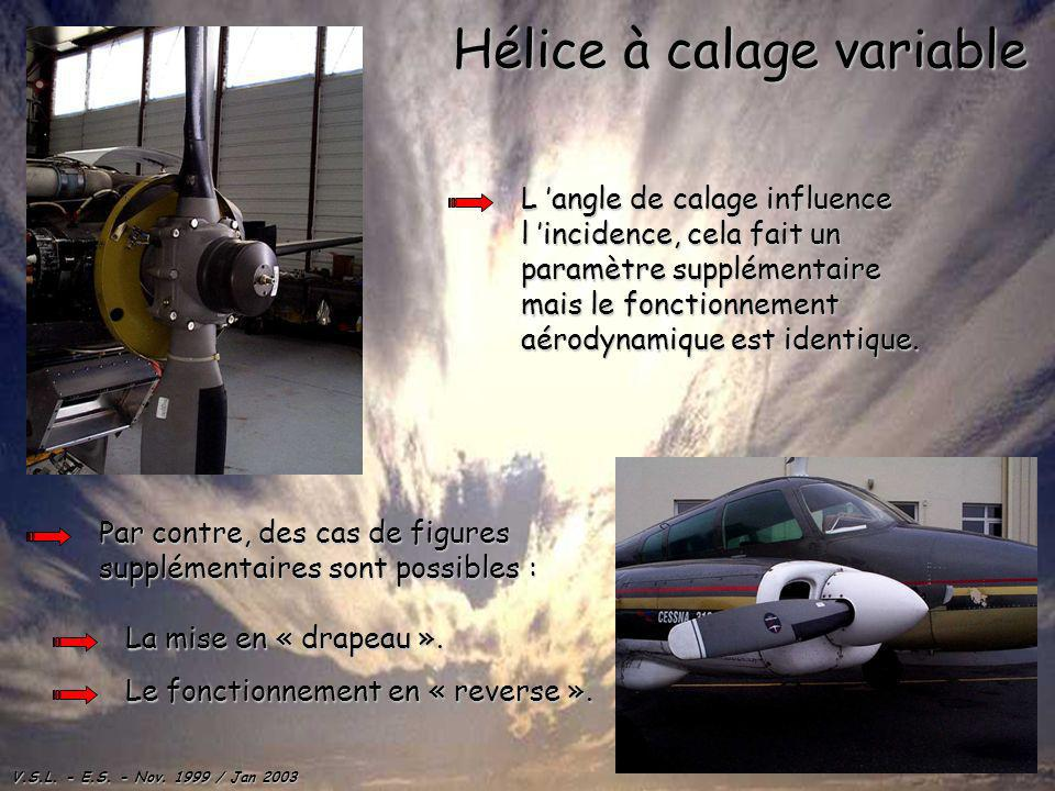 Hélice à calage variable