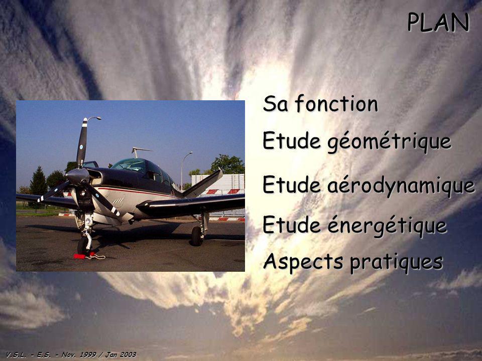 PLAN Sa fonction Etude géométrique Etude aérodynamique