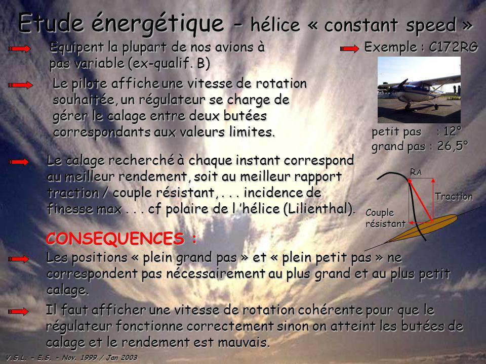 Etude énergétique - hélice « constant speed »