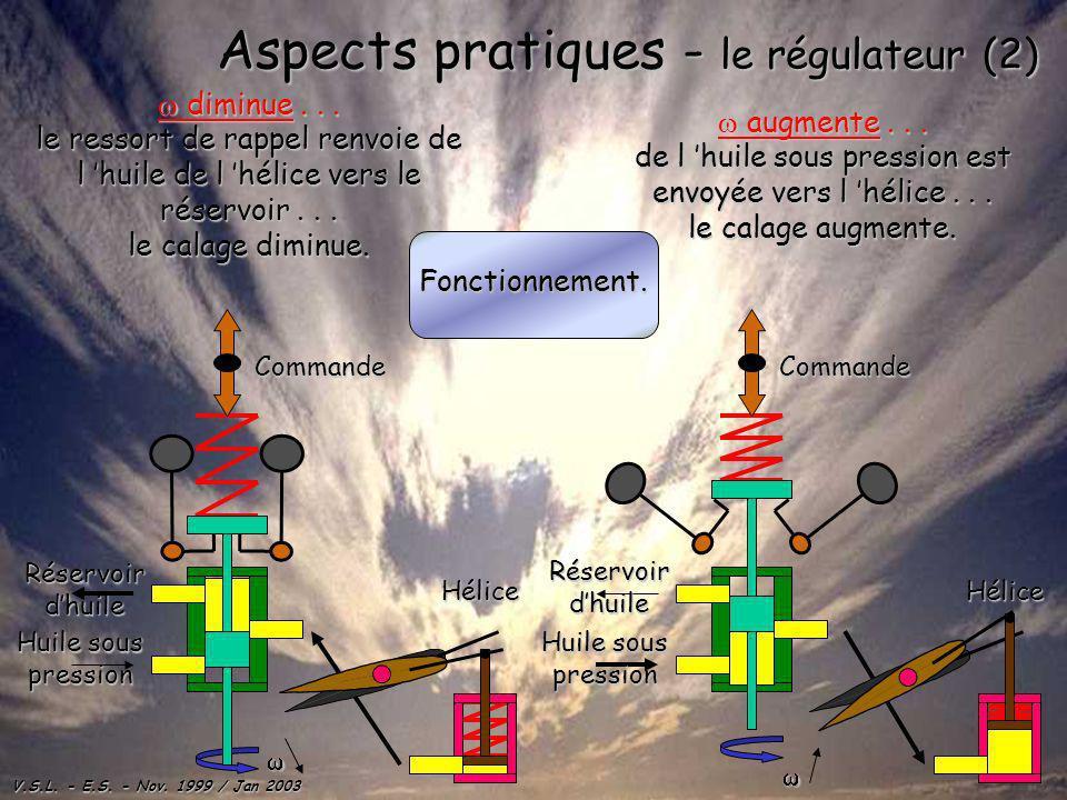 Aspects pratiques - le régulateur (2)