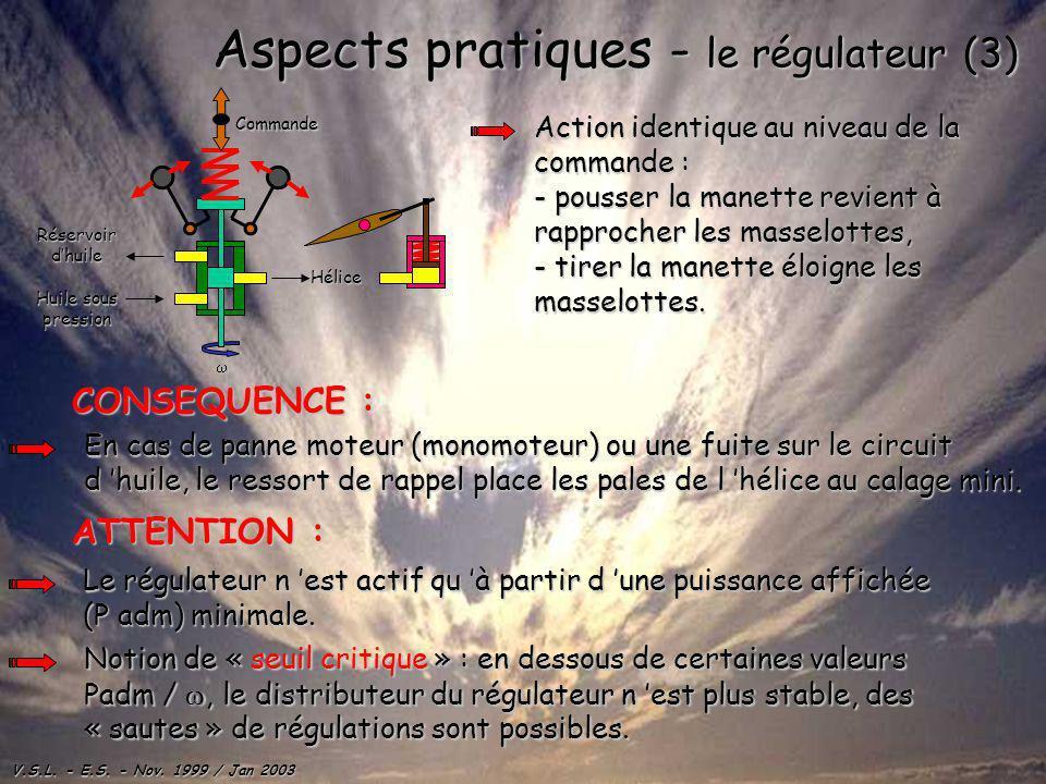 Aspects pratiques - le régulateur (3)