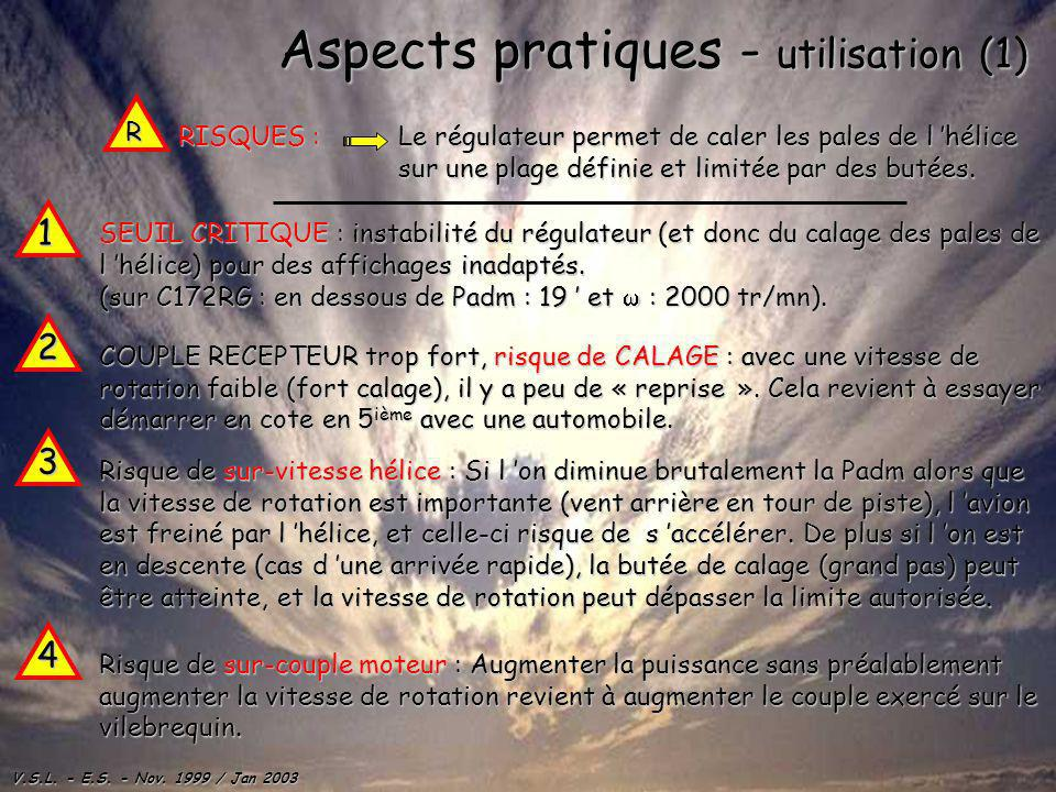 Aspects pratiques - utilisation (1)