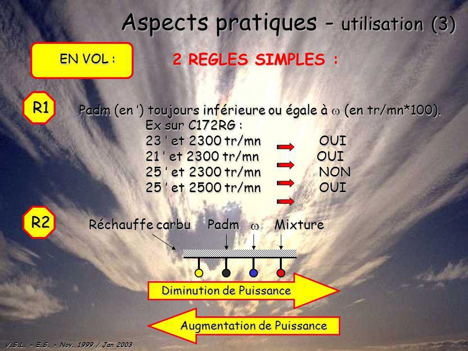 Aspects pratiques - utilisation (3)
