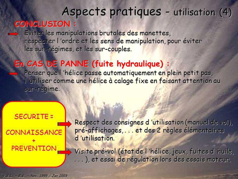 Aspects pratiques - utilisation (4)