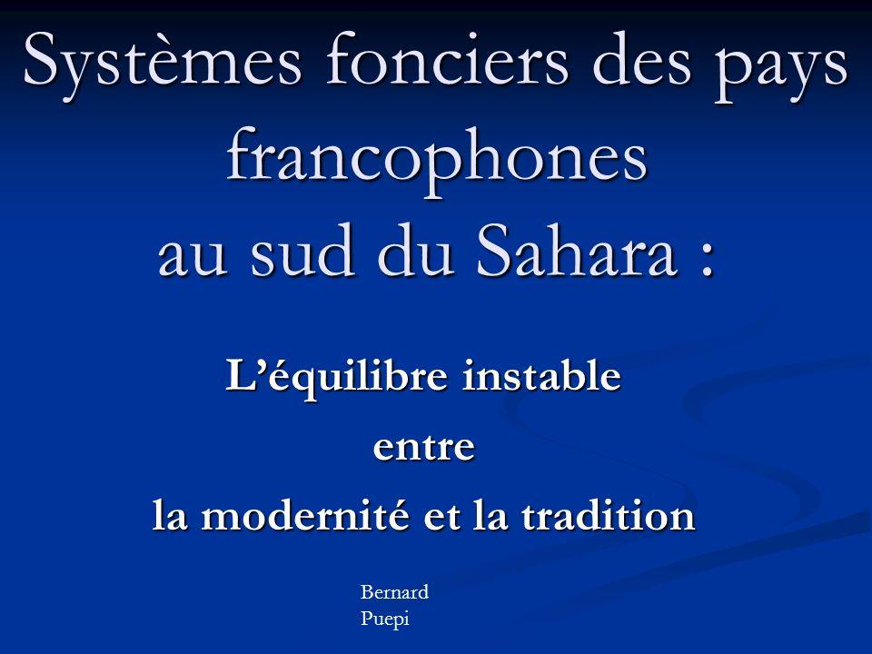 Systèmes fonciers des pays francophones au sud du Sahara :