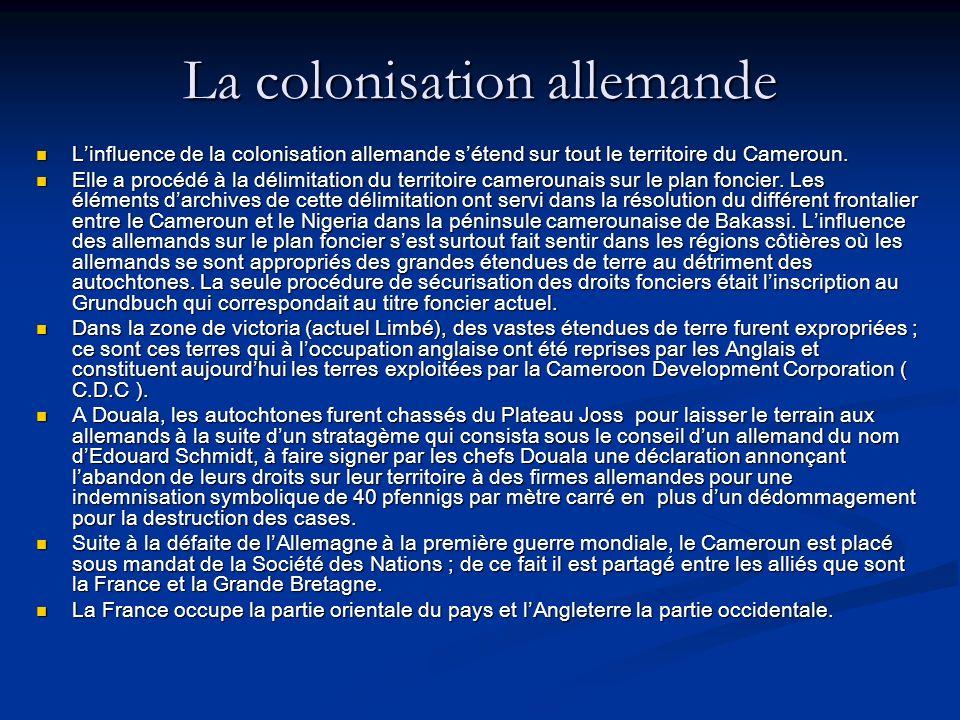 La colonisation allemande