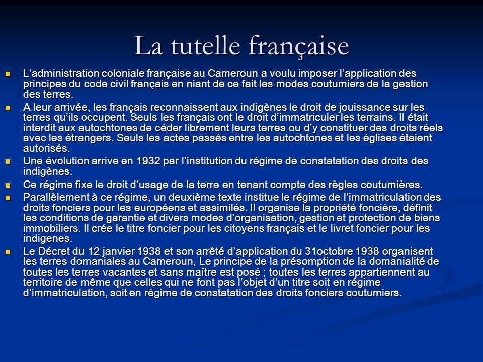 La tutelle française