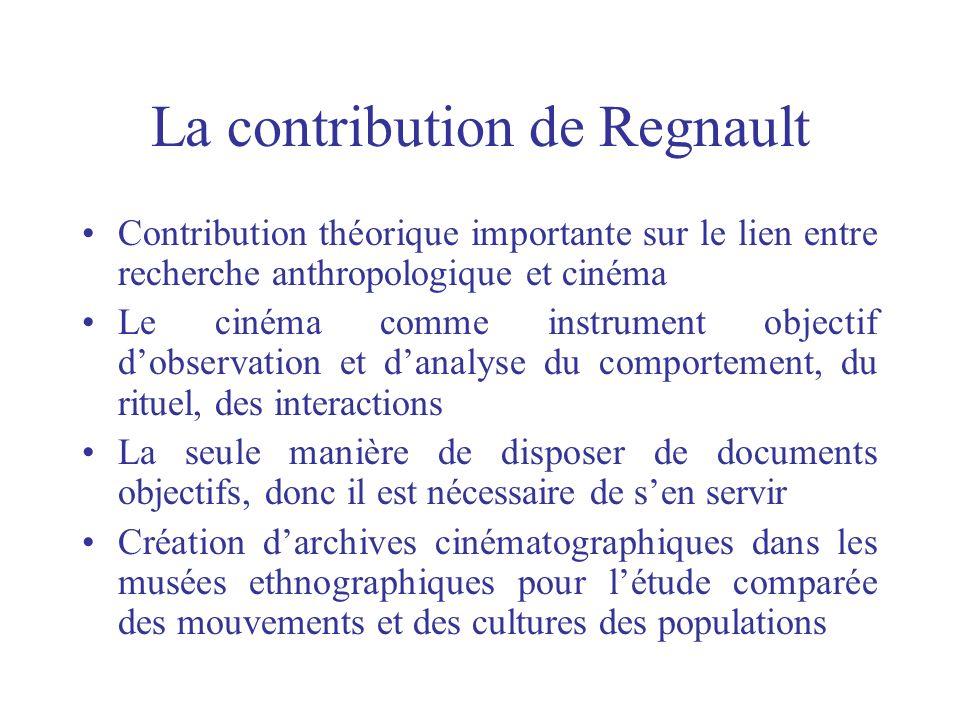 La contribution de Regnault