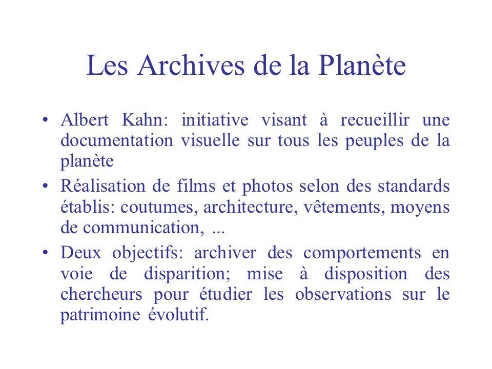 Les Archives de la Planète