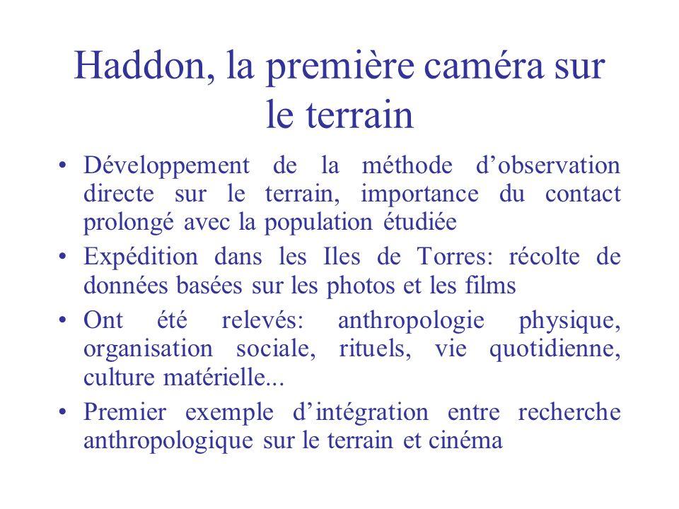 Haddon, la première caméra sur le terrain
