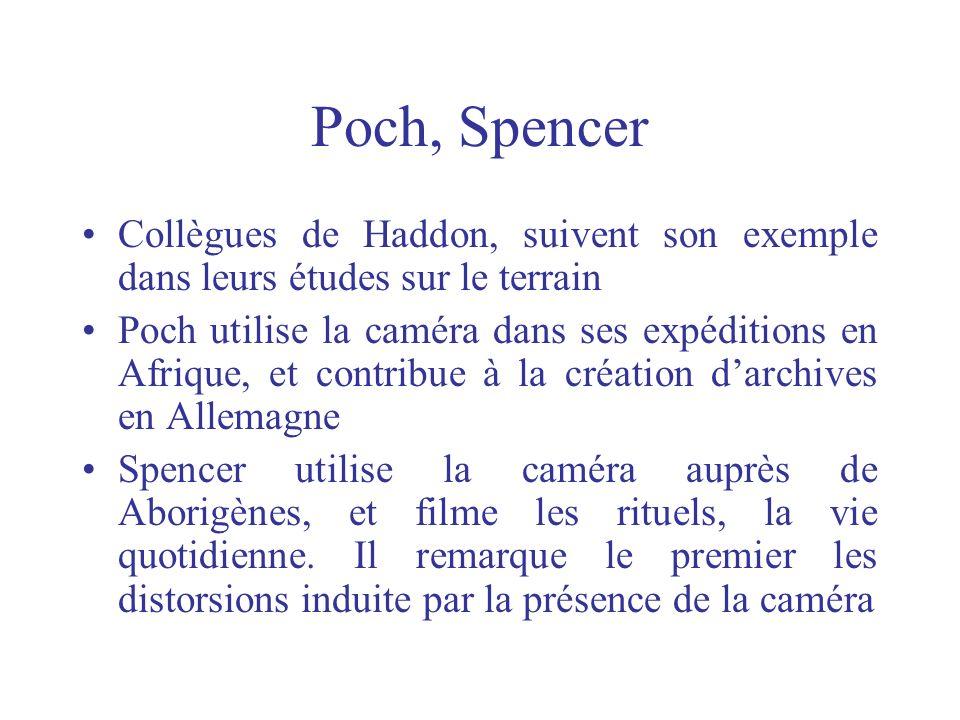 Poch, Spencer Collègues de Haddon, suivent son exemple dans leurs études sur le terrain.