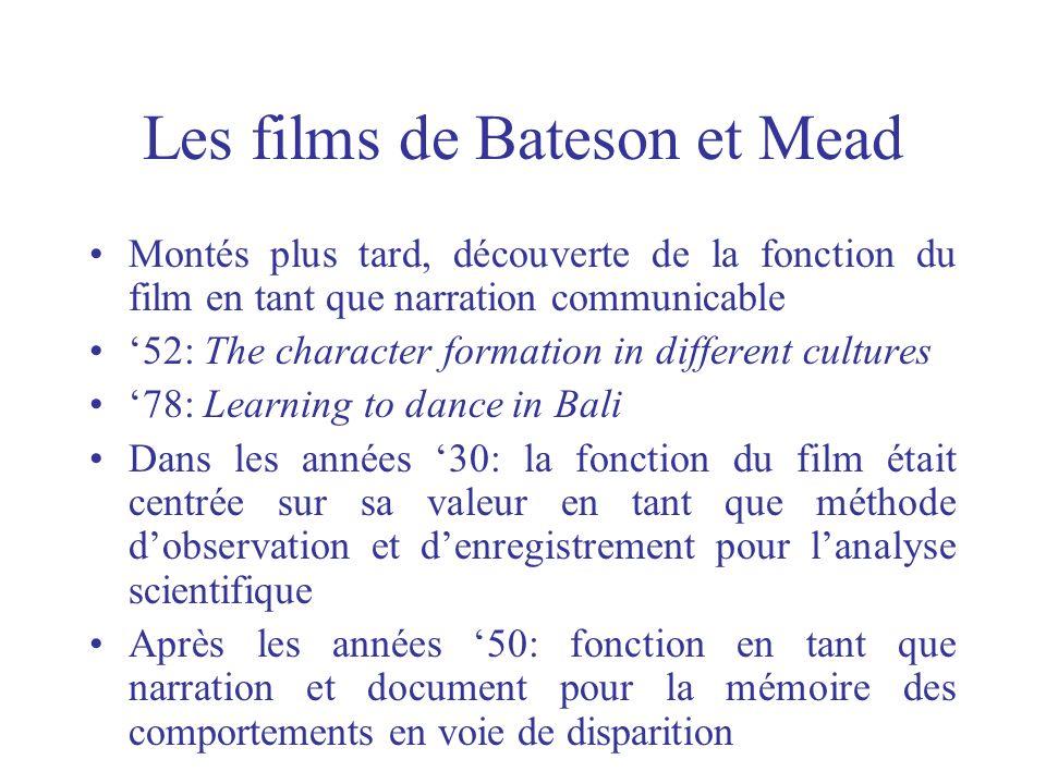 Les films de Bateson et Mead