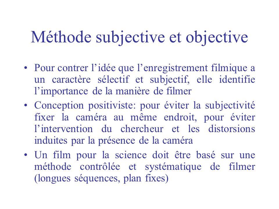 Méthode subjective et objective
