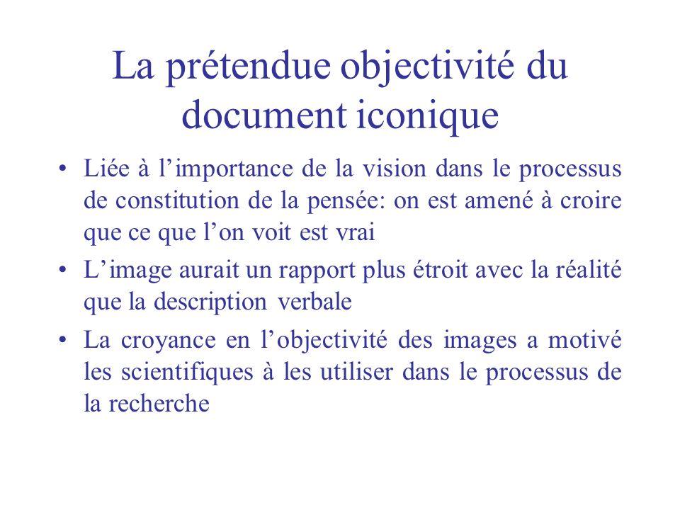 La prétendue objectivité du document iconique