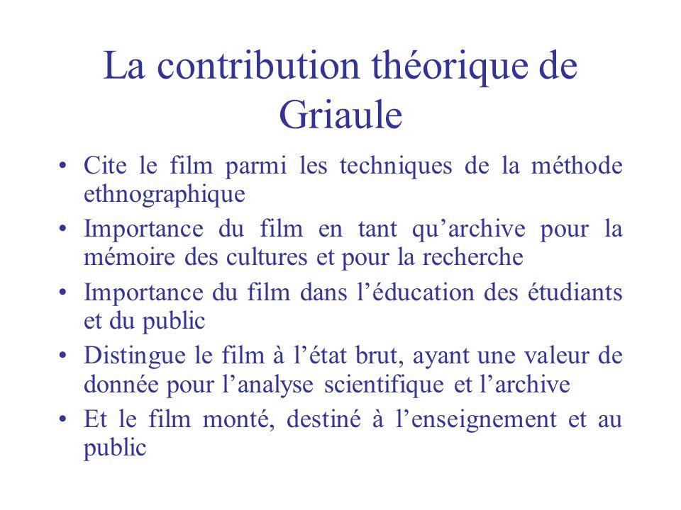 La contribution théorique de Griaule