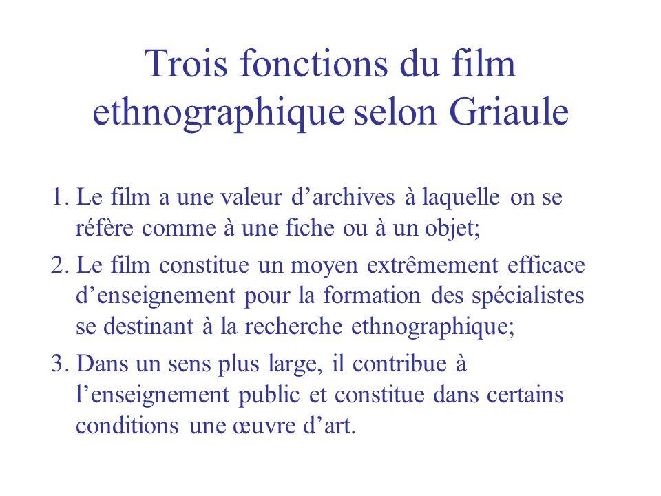 Trois fonctions du film ethnographique selon Griaule
