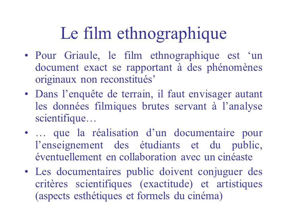 Le film ethnographique