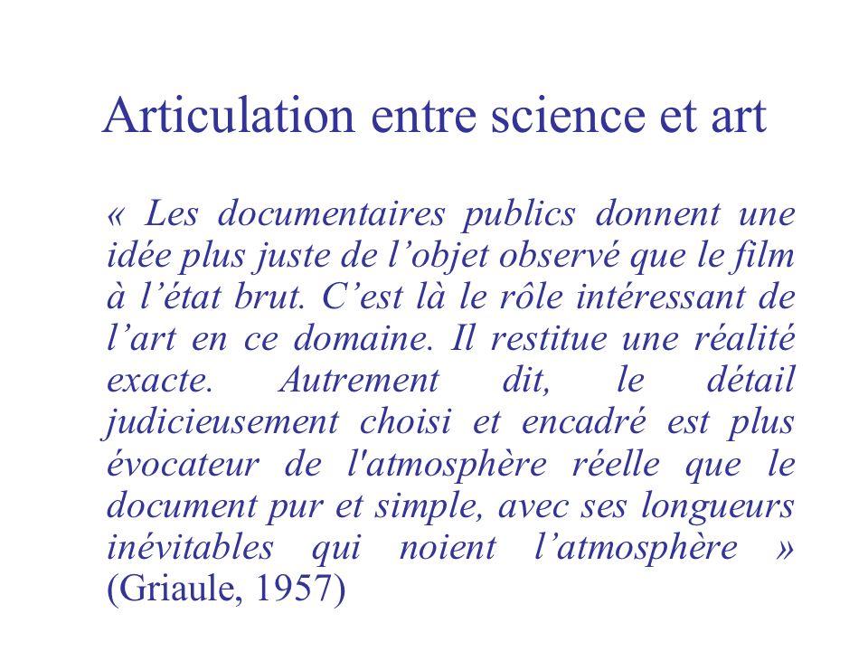 Articulation entre science et art