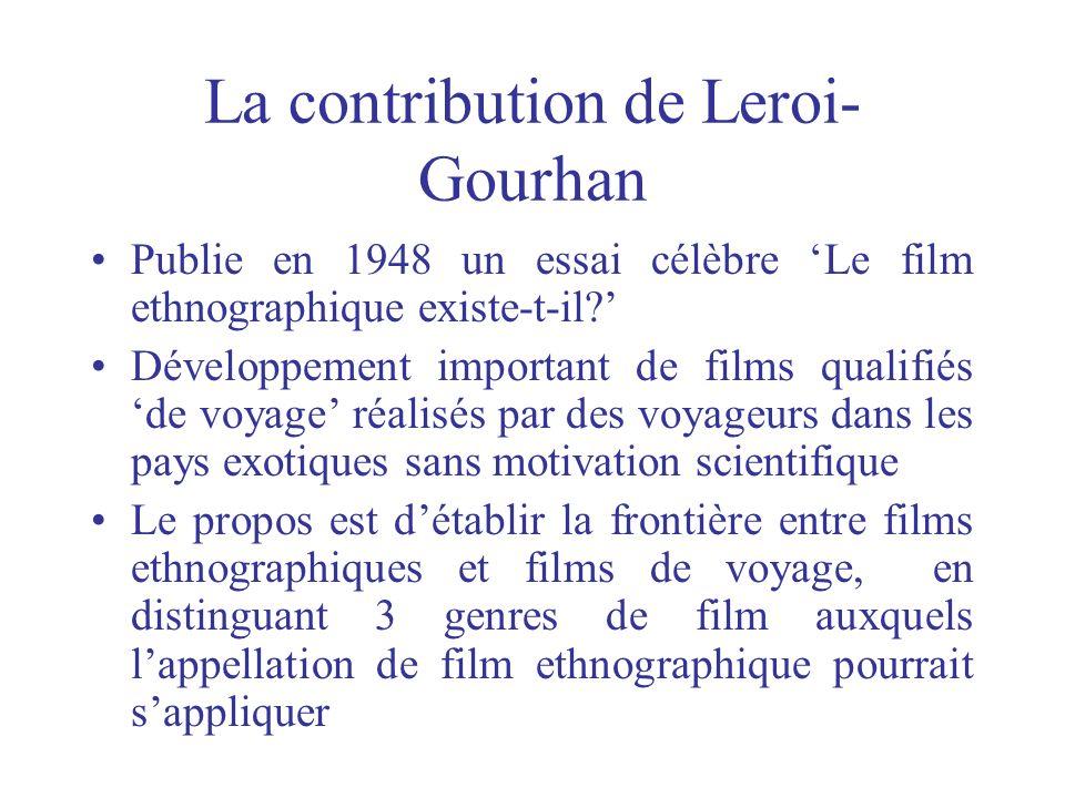 La contribution de Leroi-Gourhan
