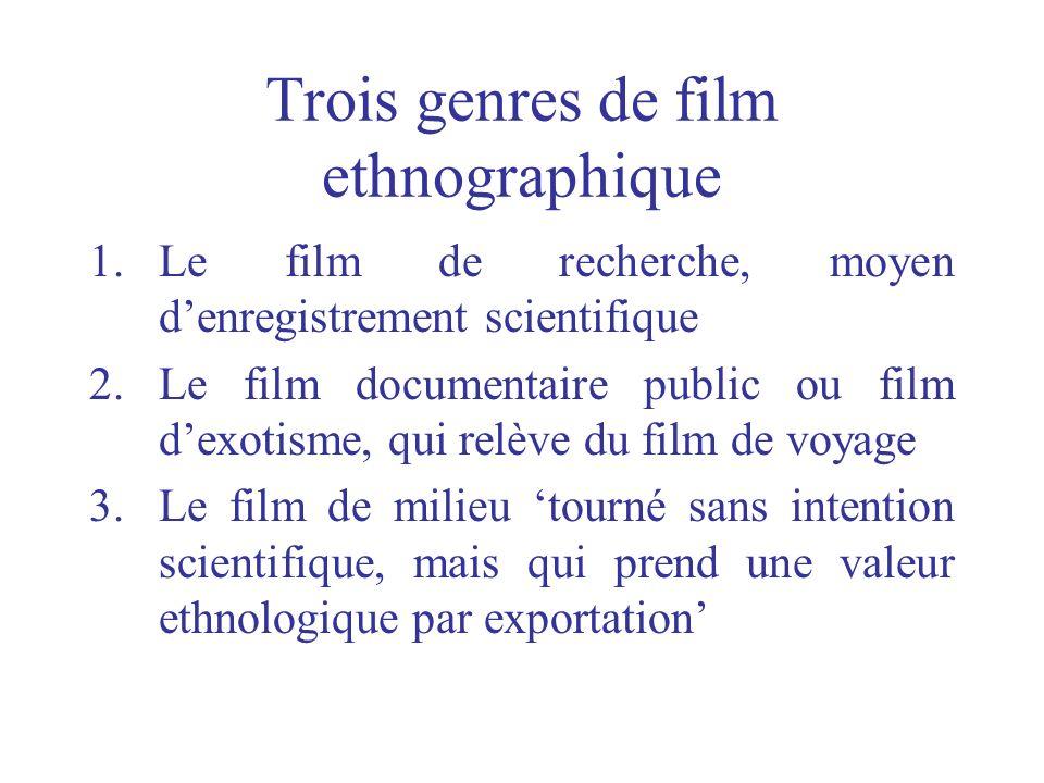Trois genres de film ethnographique