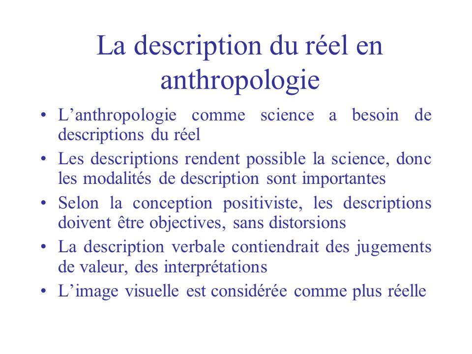 La description du réel en anthropologie