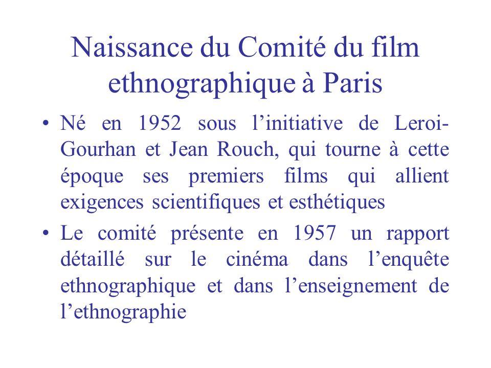 Naissance du Comité du film ethnographique à Paris