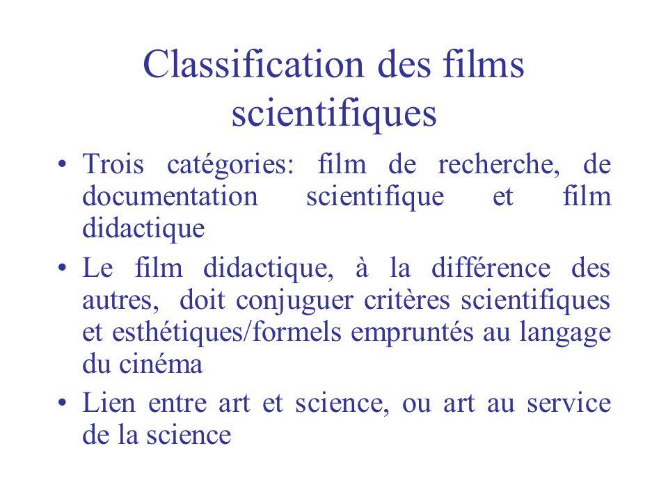 Classification des films scientifiques