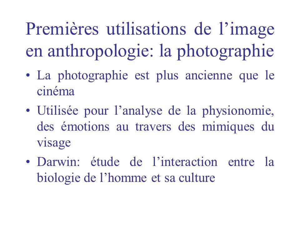 Premières utilisations de l'image en anthropologie: la photographie