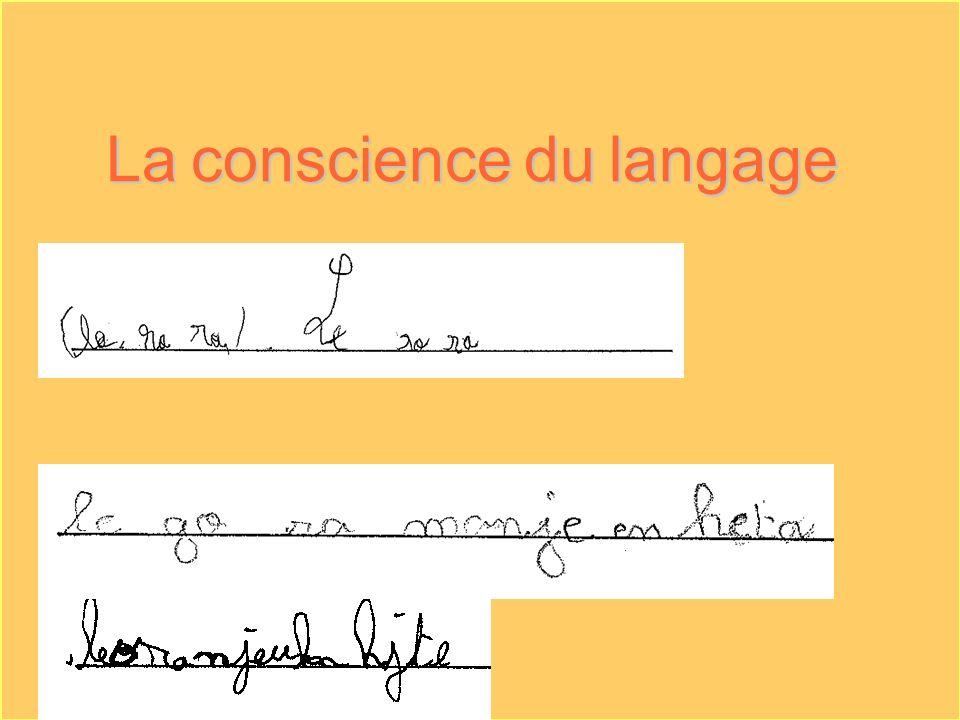 La conscience du langage